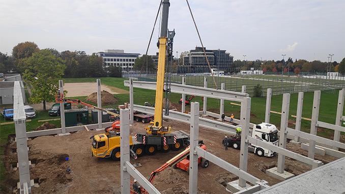 Boxsporthalle am Olympiastützpunkt Heidelberg im Bau